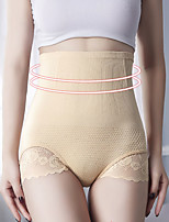 cheap -Women's Not Specified Overbust Corset / Hip Pants - Plain, Check Pattern / Tulle / Lace Trims Black Blushing Pink Beige One-Size