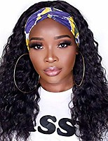 cheap -wiger headband wig water wavy hair wigs natrual black color loose curly hair synthetic wigs for women (1b)