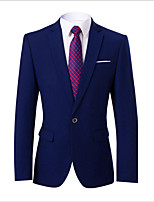 cheap -Men's Wedding Suits Notch Standard Fit Single Breasted One-button Solid Colored Polyester