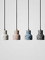 cheap -LED Pendant Light Bedside Light Black White Blue Pink 12 cm Single Design Ceramic Painted Finishes Vintage Nordic Style 110-240 V