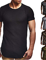 cheap -Men's T shirt Hiking Tee shirt Short Sleeve Tee Tshirt Top Outdoor Quick Dry Lightweight Breathable Sweat wicking Spring Summer Camo / Camouflage ArmyGreen Black Camouflage Hunting Fishing Climbing