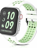 cheap -Smart watch band silicone bands compatible with apple watch band 38mm 40mm breathable soft silicone replacement strap for iwatch series 6 SE  5 4 3 2 1 sport