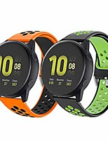 cheap -Smart watch band strap for galaxy watch 42mm 20mm silicone sport replacement strap for galaxy watch 3 41mm r840/ active 3/ active 2 40mm/ active 44mm/ garmin vivoactive 3/vivomove hr sport
