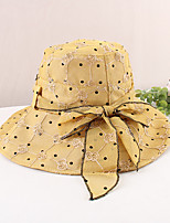 cheap -Vintage Style Elegant Polyester / Polyamide Hats / Headwear with Pattern / Print / Flower / Split Joint 1 PC Casual / Holiday Headpiece
