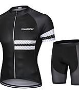 cheap -CAWANFLY Men's Short Sleeve Cycling Padded Shorts Cycling Jersey with Shorts Cycling Shorts Summer Black Bike Shorts Quick Dry Sports Mountain Bike MTB Road Bike Cycling Clothing Apparel