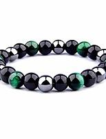 cheap -tiger's eye triple protection bracelet hematite beads & black obsidian by ueuc