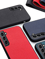cheap -Phone Case For Samsung Galaxy Back Cover Galaxy A32 S20 A51 S10 Galaxy A11 Galaxy A21 A71 5G Galaxy A10e Galaxy A10s Galaxy M11 Shockproof Dustproof Solid Colored Genuine Leather
