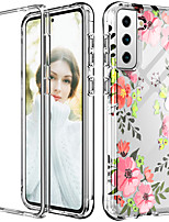 cheap -Bumper Phone Case For Samsung Galaxy S21 Plus S21 Ultra  Note 20 Ultra Note 10 Plus S10 Plus Flower Graphic Shockproof Dustproof TPU Transparent Back Cover