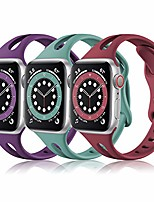 cheap -Smartwatch band (3 pack) sport bands compatible with apple watch 40mm 38mm women, soft thin silicone strap for iwatch se & iwatch series 6 5 4 3 2 1, wine/plum/pine green