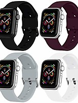 cheap -smartwatch band apple watch strap 40mm 44mm 38mm 42mm, silicone sport replacement strap with stainless steel clasp compatible with iwatch 6/5/4/3/2/1 (pack of 4)