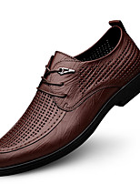 cheap -Men's Oxfords Business Casual Daily Nappa Leather Breathable Black Brown Spring Summer
