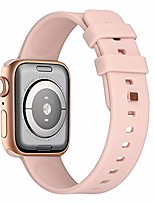 cheap -Smart watch band waterproof silicone strap compatible with apple watch strap 44mm 42mm 40mm 38mm, porous and breathable strap compatible with apple watch se / iwatch series 6/5/4/3/2/1.