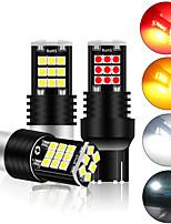 cheap -2PCS Signal Lamp P21w Led Ba15s 1156 T20 7440 W21W W21/5W Bulb 3030SMD Canbus 1157 Led Bay15d P21/5w Turn Brake Backup Light 12V