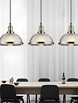 cheap -LED Industrial Pendant Light Vintage Glass Metal 26cm Electroplated Chrome Bronze Metal Country Glass Lampshade