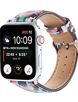 cheap -Smart Watch Band for Apple iWatch 1 pcs Printed Bracelet PU Leather Replacement  Wrist Strap for Apple Watch Series SE / 6/5/4/3/2/1 14mm
