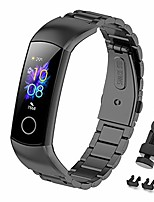 cheap -Smart watch band bracelet for honor band 5 replacement strap, honor band 4 stainless steel metal strap adjustable buckle strap compatible with honor band 5 bracelet honor band 4