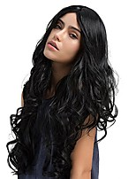 cheap -Long Curly Wig 55 cm Middle Parting Womens Wigs Natural Synthetic Wigs Womens Curly Wavy Wig Party Cosplay Halloween WQ04