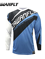 cheap -CAWANFLY Men's Long Sleeve Cycling Jersey Dirt Bike Jersey Winter Blue / Black Novelty Funny Bike Tee Tshirt Jersey Compression Socks Mountain Bike MTB Road Bike Cycling Breathable Sports Clothing