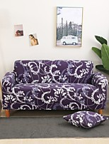 cheap -Purple Floral Print Dustproof All-powerful Slipcovers Stretch Sofa Cover Super Soft Fabric Couch Cover with One Free Boster Case(Chair/Love Seat/3 Seats/4 Seats)