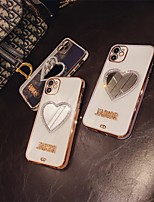 cheap -Phone Case For Apple Back Cover iPhone 12 Pro Max 11 SE 2020 X XR XS Max 8 7 Shockproof Dustproof Heart Transparent TPU