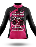 cheap -21Grams Women's Long Sleeve Cycling Jersey Summer Spandex Polyester Rose Red Bike Jersey Top Mountain Bike MTB Road Bike Cycling Quick Dry Moisture Wicking Breathable Sports Clothing Apparel