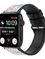 cheap -Smart Watch Band for Apple iWatch 1 pcs Printed Bracelet PU Leather Replacement  Wrist Strap for Apple Watch Series SE / 6/5/4/3/2/1