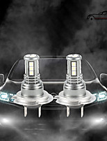 cheap -OTOLAMPARA 55W Halogen Bulb Power More Brighter Car LED Bulb H7 H4 H10 H11 H16 6500K LED Front Replacement Bulbs 2pcs