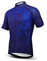cheap -21Grams Men's Short Sleeve Cycling Jersey Summer Spandex Polyester Royal Blue Bike Jersey Top Mountain Bike MTB Road Bike Cycling Quick Dry Moisture Wicking Breathable Sports Clothing Apparel