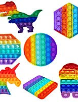 cheap -5 pcs Squeeze Bubble Decompression Toys Push Bubble Fidgets Simple Figet Toys Autism Squishy Stress Relief Toy for Kids Adults