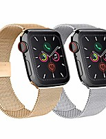cheap -smartwatch band 2 pack compatible for apple watch bracelet 42mm 44mm 38mm 40mm, metal stainless steel compatible with iwatch series se / 6/5/4/3/2/1 (silver / rose gold, 38mm / 40mm)