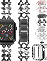 cheap -smartwatch band compatible with apple watch bracelet 38mm 40mm with case women dressy jewelry metal bracelet adjustable bracelet with diamond screen protector cover for iwatch series se / 6/5/4/3/2/1