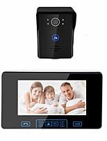 cheap -7 Inch Wireless Video Hands-free Doorbell Intercom 2.4GHz Digital Door Phone System with 1 Monitor Doorbell Camera Doorbell