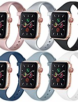 cheap -[6 pack] bands compatible with apple watch bands 40mm 38mm for women men, slim thin narrow bands for iwatch se & series 6 5 4 3 2 1