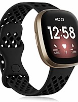 cheap -Smartwatch band bracelet compatible with fitbit versa 3 armband / fitbit sense armbands, soft silicone sport replacement band compatible for fitbit versa 3 / fitbit sense, women men small black