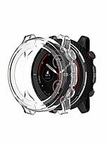 cheap -Smart watch band compatible with amazfit stratos 3 case, protective case cover watch accessories protector soft tpu bumper shell for amazfit stratos 3 smartwatch (white)