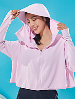 cheap -Women's UPF 50+ Clothing UV Sun Protection Lightweight Jacket Zip Up Hoodie Jacket Windbreaker Cooling Sun Shirt with Pockets Quick Dry Packable Coat Top Hiking Fishing Outdoor Performance