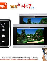 cheap -TUYA Video Intercom WIFI Video Door Phone System Home  Intercom with 7 Inch Touch Screen 2 Monitor AHD 1080P Doorbell