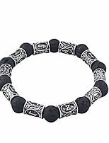 cheap -hlark viking jewelry beaded bracelet rune bracelet black volcanic lava rock bracelet nordic bracelet antique