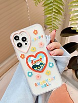 cheap -Phone Case For Apple Back Cover iPhone 12 Pro Max 11 SE 2020 X XR XS Max 8 7 Shockproof Dustproof Cartoon Flower TPU