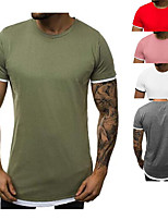 cheap -Men's T shirt Hiking Tee shirt Short Sleeve Tee Tshirt Top Outdoor Quick Dry Lightweight Breathable Sweat wicking Spring Summer ArmyGreen White Red Hunting Fishing Climbing