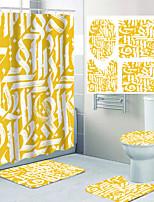 cheap -Letter Pattern Printing Bathroom Shower Curtain Leisure Toilet Four-piece Design