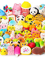 cheap -Random 70Pcs Squeeze Toys, Birthday Gifts for Kids Party Favors, Slow Rising Simulation Bread Squeeze Stress Relief Toys Goodie Bags Egg Filler, Keychain Phone Straps, 1 Jumbo Squeeze Include