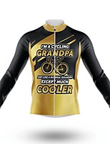 cheap -21Grams Men's Long Sleeve Cycling Jersey Spandex Polyester Yellow Bike Jersey Top Mountain Bike MTB Road Bike Cycling Quick Dry Moisture Wicking Breathable Sports Clothing Apparel / Athleisure