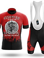 cheap -Men's Short Sleeve Cycling Jersey with Bib Shorts Winter Summer Spandex Red Bike Quick Dry Breathable Sports Graphic Mountain Bike MTB Road Bike Cycling Clothing Apparel / Stretchy / Athletic