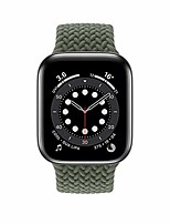 cheap -smartwatch band braided bracelet compatible for apple watch 44 / 42mm 40 / 38mm, woven solo loop replacement bracelets compatible with iwatch series 6/5/4/3/2/1 / se (inverness green, 40 / 38mm - l)