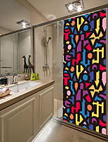 cheap -2pcs Self-adhesive Creative Colorful Letter Door Stickers For Living Room Diy Decoration Home Waterproof Wall Stickers