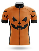 cheap -21Grams Men's Short Sleeve Cycling Jersey Summer Spandex Polyester Orange Bike Jersey Top Mountain Bike MTB Road Bike Cycling Quick Dry Moisture Wicking Breathable Sports Clothing Apparel