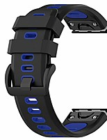 cheap -smartwatch band 26mm two-tone replacement silicone wrist bracelets for garmin fenix 6x pro / 6x / fenix 5x / 5x puls / descent mk1 (silicone black + blue)