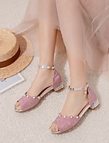 cheap -Girls' Sandals Princess Shoes PU Synthetics Big Kids(7years +) Pink Gold Silver Summer