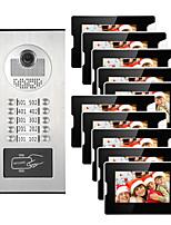 cheap -10 Apartments 7 Multi Apartment Video Door Phone System Video Intercom Doorbell System 700 TVL Camera for 10 Families